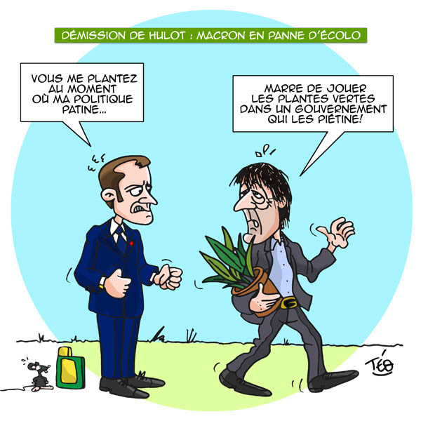 Dessin Téo : démission Nicolas Hulot