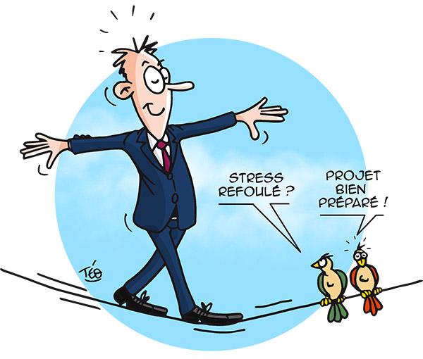 Dessin Téo : stress au travail
