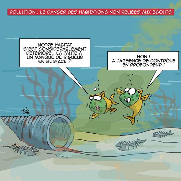 Dessin Téo : pollution